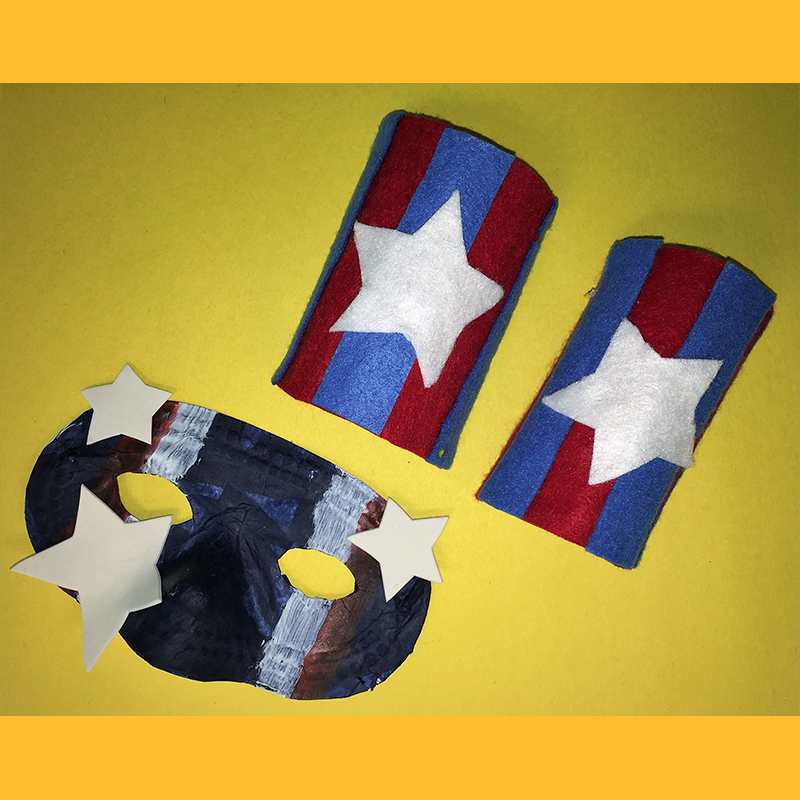 Kidcreate Studio, Superhero to the Rescue Mask and Cuffs Art Project