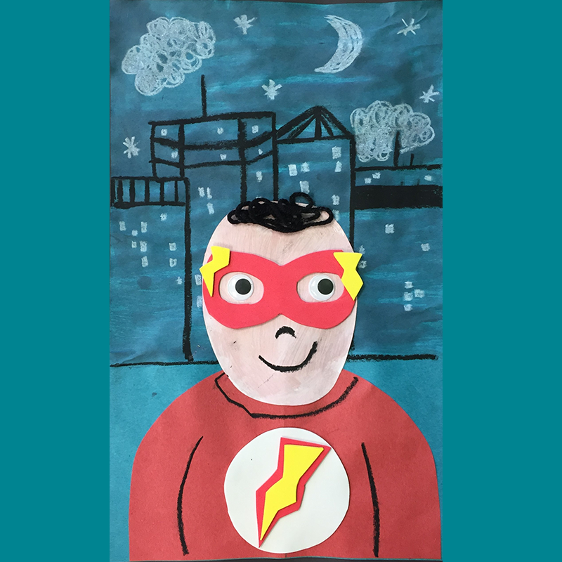 Kidcreate Studio, Me as a Superhero Art Project