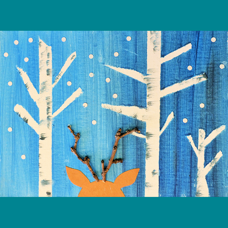 Kidcreate Studio, Sven the Reindeer on Canvas Art Project
