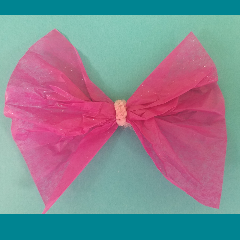 Kidcreate Studio, Tissue Paper Bow Art Project