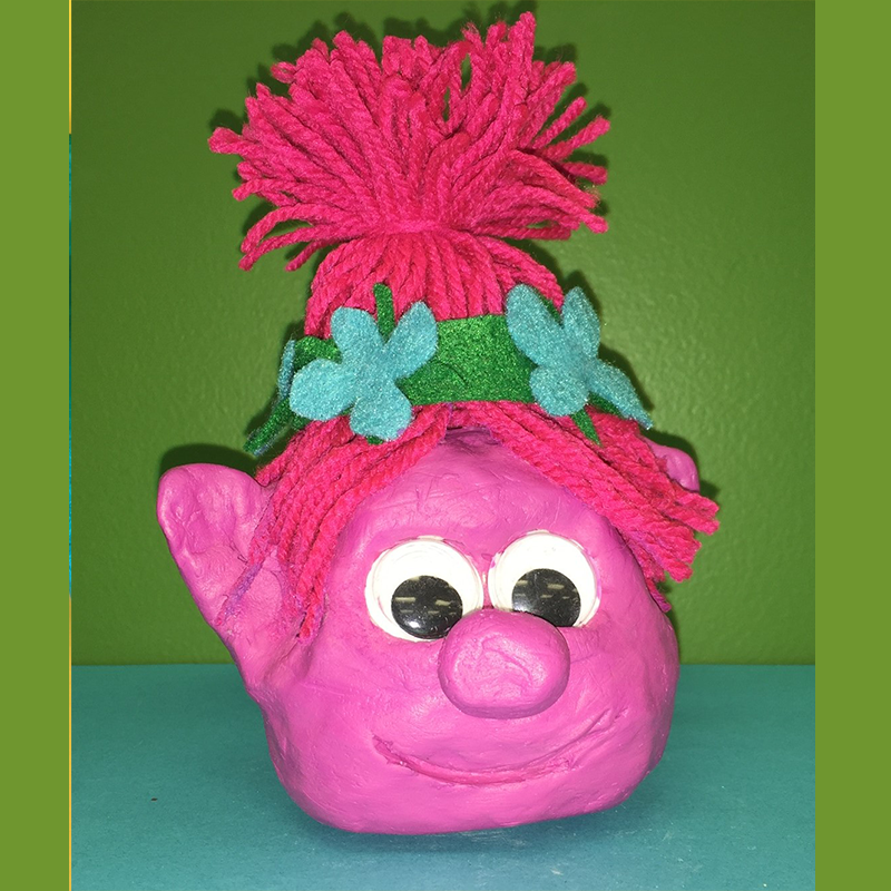 Kidcreate Studio, Trolls- Princess Poppy Art Project