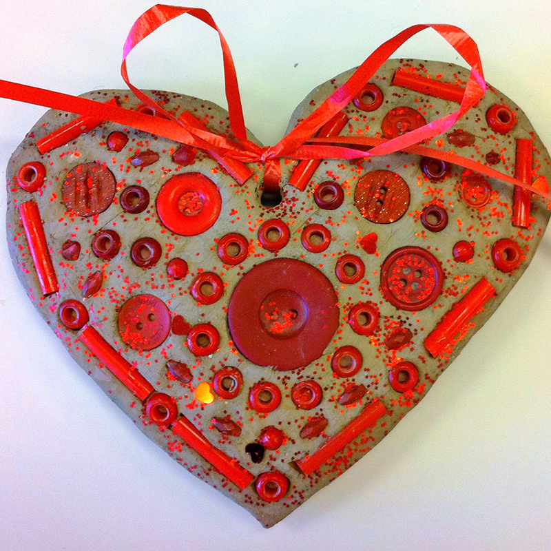 Kidcreate Studio, Valentine's Day Mosaic Art Project