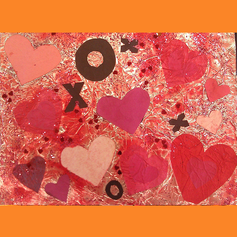 Kidcreate Studio, Valentine's Day Collage Art Project