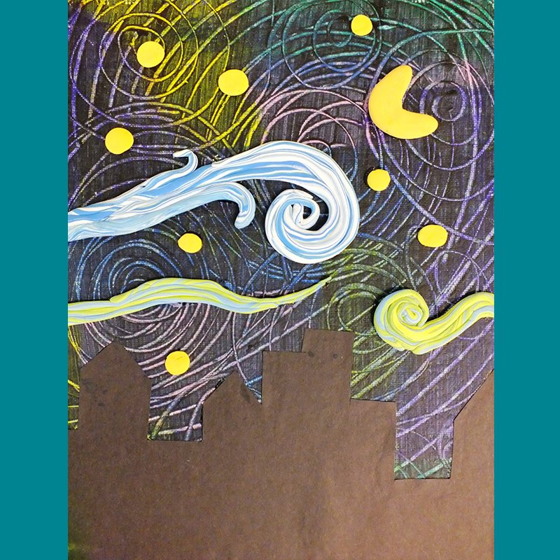 Kidcreate Studio, Van Gogh's Starry Night on Canvas Art Project