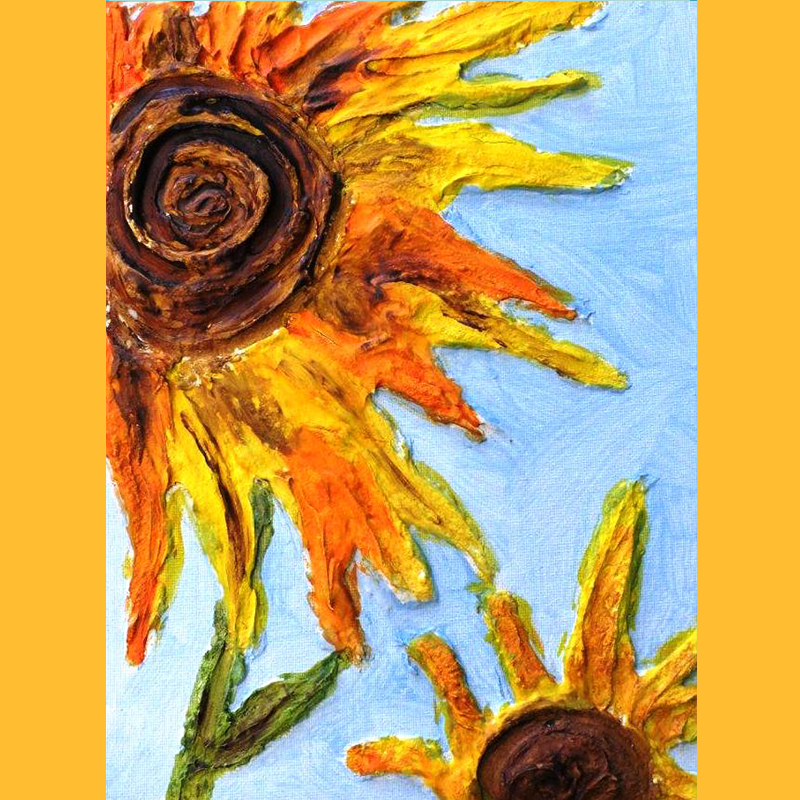 Kidcreate Studio, Van Gogh's Sunflowers on Canvas Art Project