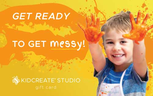gift cards for kids art camps - Kidcreate Studio