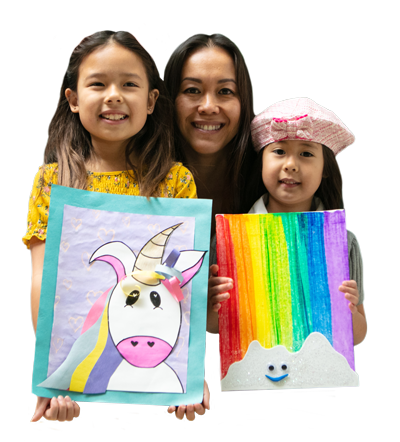 Kidcreate provides live or virtual art classes for kids so you can spend time with the ones you love that are out of state.